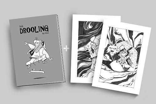 Ink Drooling + 2 prints