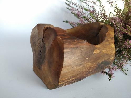 Xmas gift walnut bowl wooden art jewelry tray rings bearer bowl wedding gift han