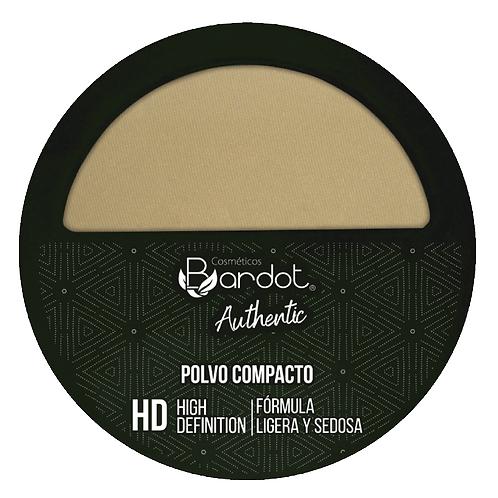 POLVO COMPACTO HD AUTHENTIC #2, BARDOT, REF. 20272, COD. BDT-010.