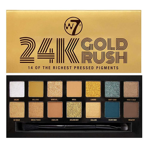 24 K GOLD RUSH PAELTA DE SOMBRAS, W7, COD. W7-059.