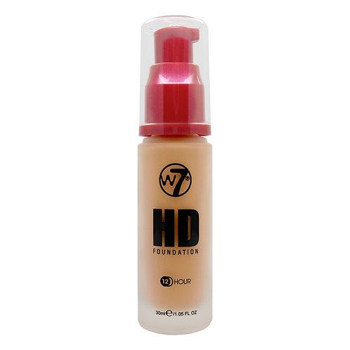 HDF HD FOUNDATION TAN, W7, REF. W7-774445, COD. W7-073, 30 ML.