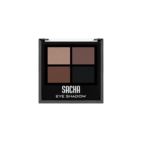 QUAD EYESHADOW GROUNDED, SACHA, COD. SAH-139.