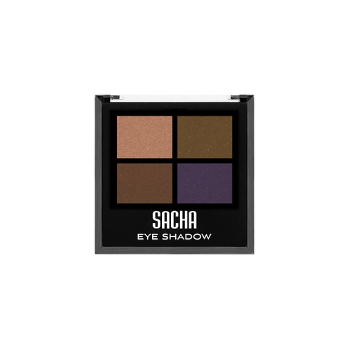 QUAD EYESHADOW METALLIC DEEP, SACHA, COD. SAH-146.