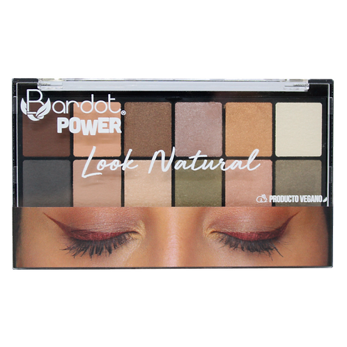 PALETA SOMBRAS LOOK NATURAL POWER, BARDOT, REF. 23501, COD. BDT-028.