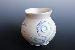 Small matte floral vase