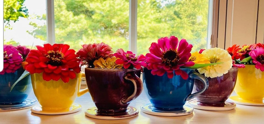 Set of teacup planters for commission