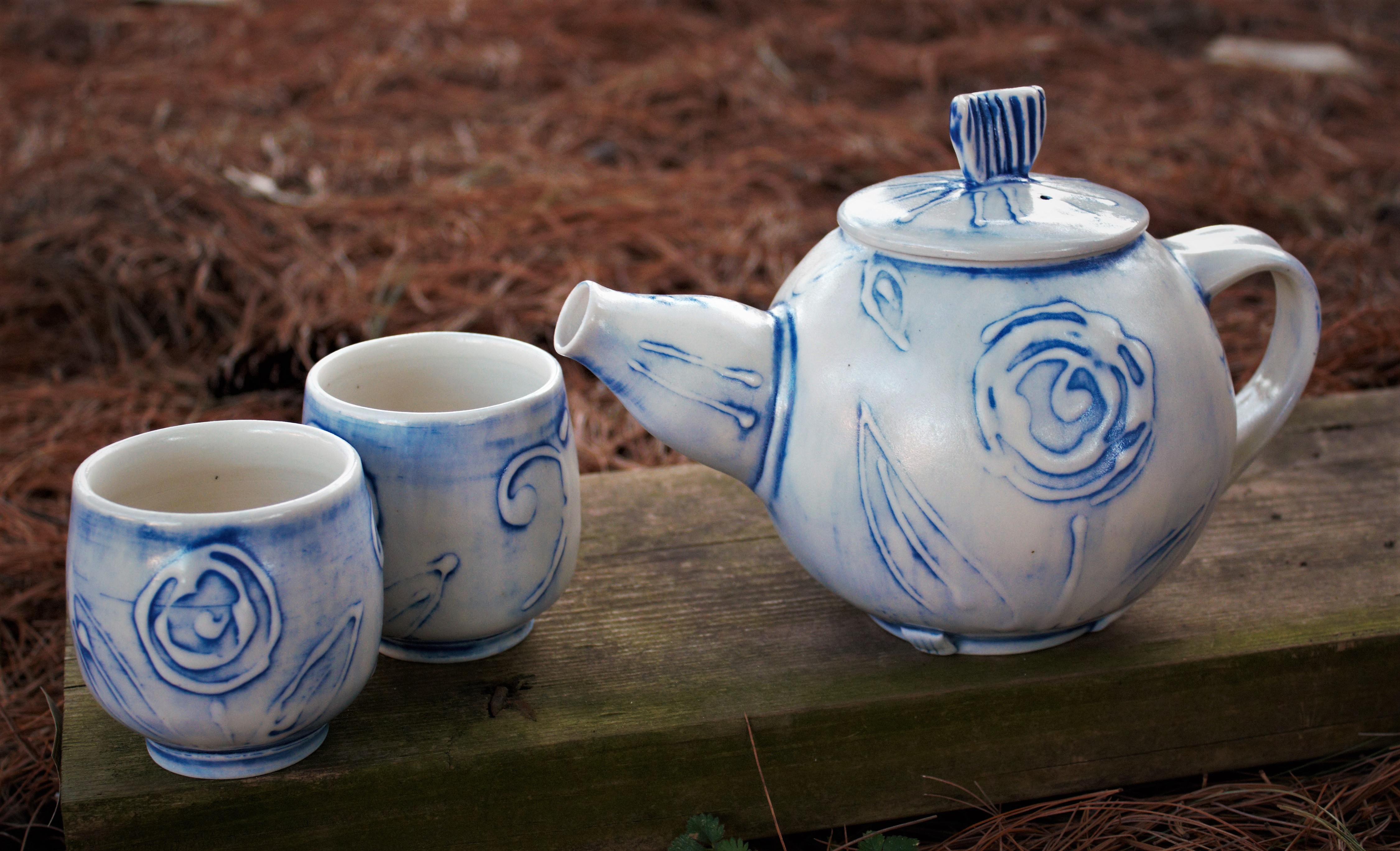 teapot $75, cups made to order