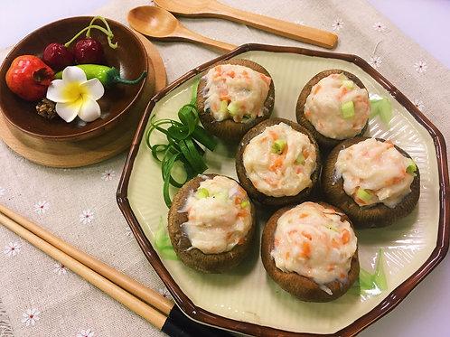 「蠔」大大蝦膠肉碎釀冬菇