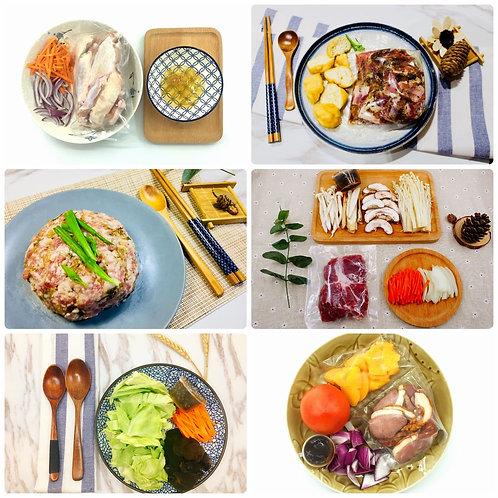 招牌6餸套餐  (菜肉均衡)