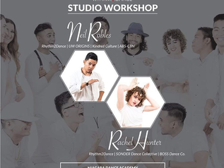 Fantastic Hip Hop Workshop with Neil Robles from 6pm-7pm & Rachel Hunter from 7pm-8pm Saturday M