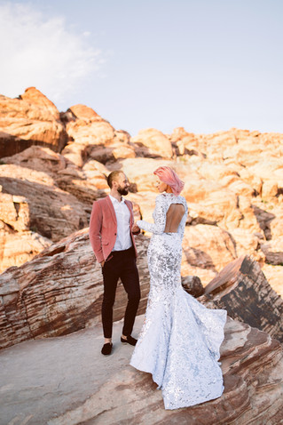 Las Vegas wedding | Red Rock Canyon Elopement |  Nontraditional wedding | First part