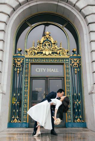 A & M | City Hall Wedding