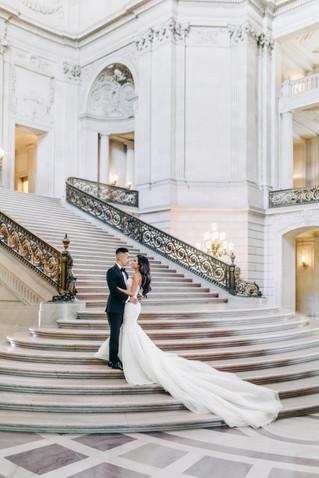 L & K | City Hall Bridal Photo Shoot