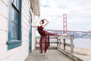 Marianna | Ballerina | The Golden Gate Bridge | Palace of Fine Arts | San Francisco