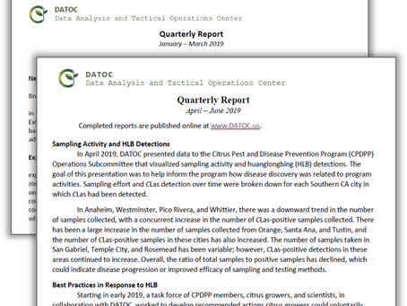 New Quarterly Report Released