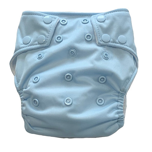 Baby blue PUL nappy