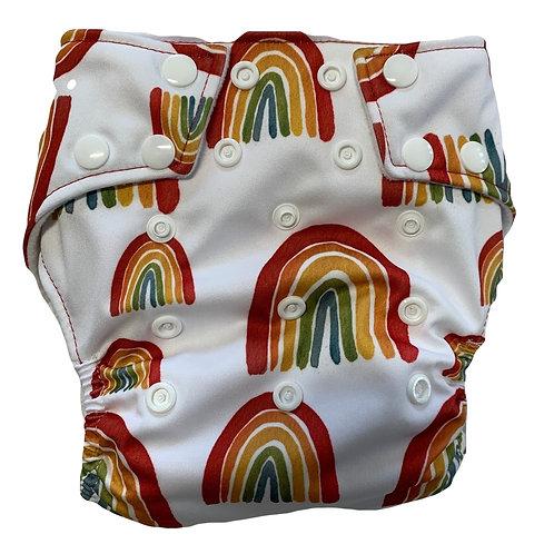 Bright Boho rainbow PUL nappy