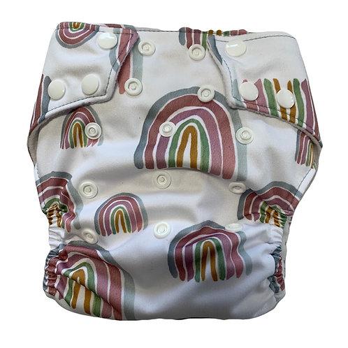 Pastel Boho rainbow PUL nappy