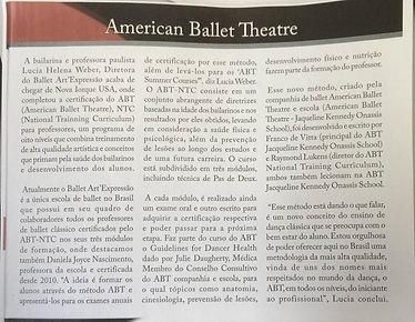 aula de ballet