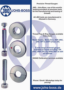 Thread Gauges available from stock - CD