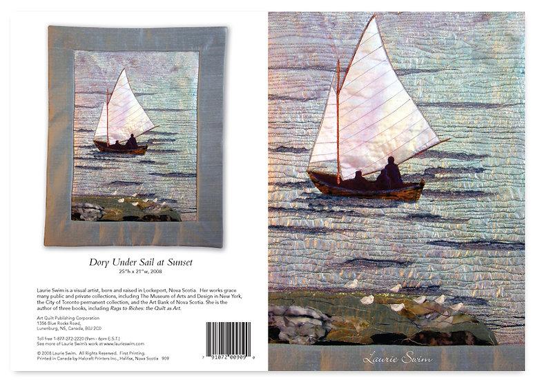909 Dory Under Sail at Sunset