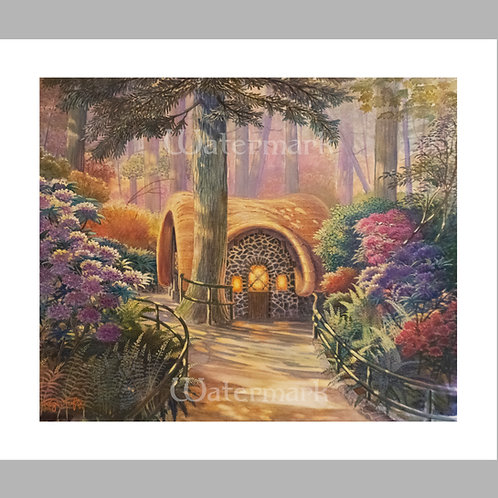 """Printed Copy of Seven Dwarfs' Cottage by Roger Tofte 13"""" x 11"""""""