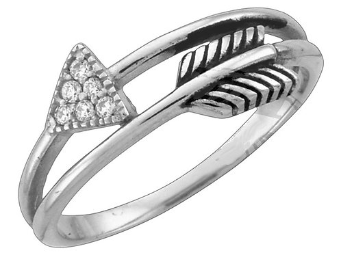 Ring with Arrow Band, Sized