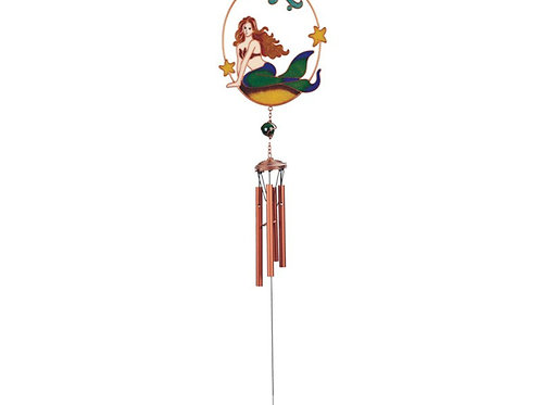 Mermaid Copper Gem Chime