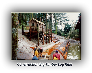 photo of Log Ride during construction
