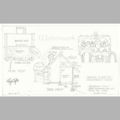 Printed Copy of Hansel and Gretel Plans, Signed by Roger Tofte