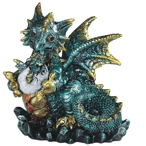 Blue Dragon Holds Egg