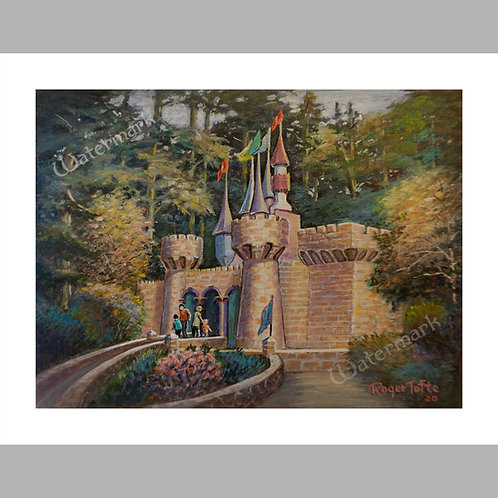"""Printed Copy of Castle Painting by Roger Tofte, 14"""" x 11"""""""