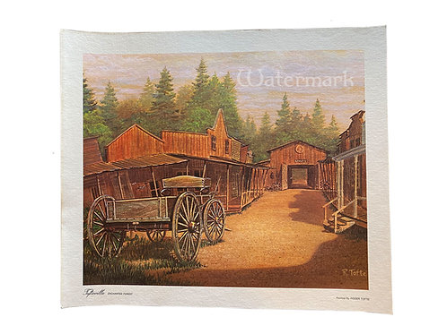 """Printed Copy of Western Town by Roger Tofte 15"""" x 13"""""""
