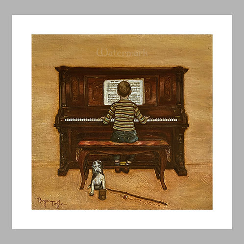 Printed Copy of Boy at Piano Painting by Roger Tofte