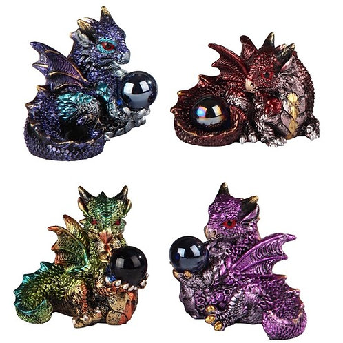 Dragon with Gem - 4pc Set