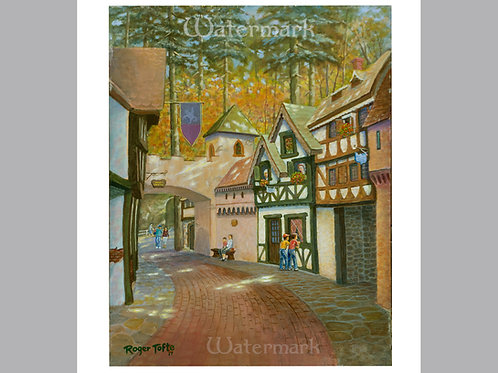 Printed Copy of English Village Painting by Roger Tofte