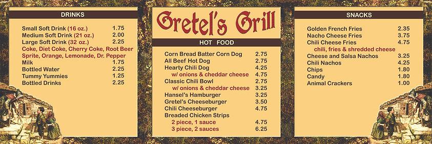 Gretel's Grill Menu