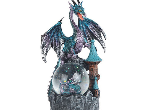Blue Purple Dragon Snow Globe