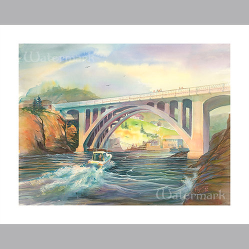 """20"""" x 16"""" Printed Copy of Depot Bay Painting by Roger Tofte"""