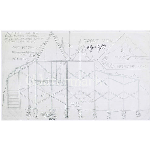 Printed Copy of Ice Mountain Plans, Signed by Roger Tofte