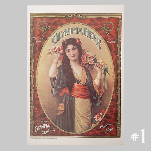 """14"""" x 20"""" Olympia Beer Posters"""