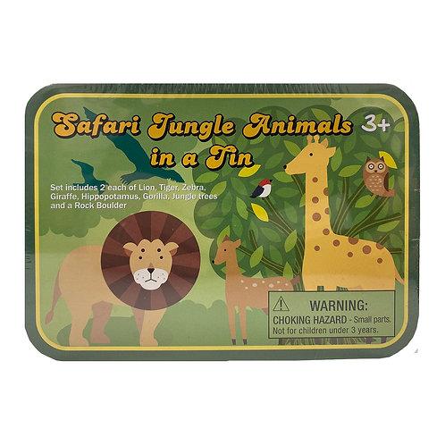 Safari Jungle Animals in Tin Box