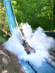 40ft drop at Big Timber Log Ride