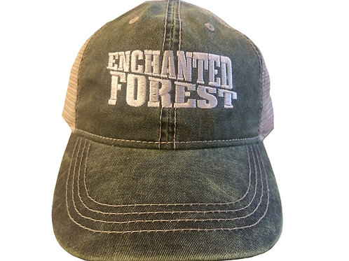 Enchanted Forest Distressed Trucker Hat