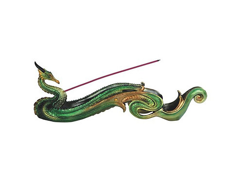 Incense Burner Green Dragon