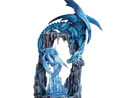 Large Scale Blue Dragon in Cave