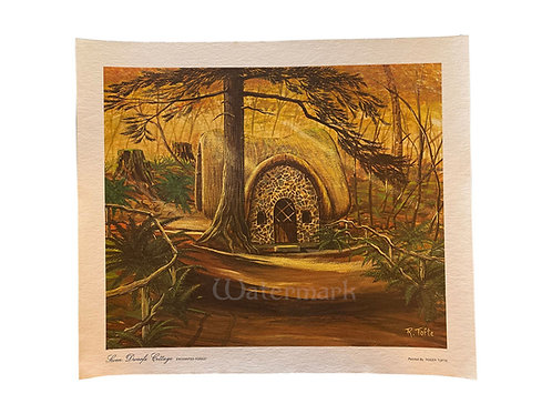 """Printed Copy of Seven Dwarfs Cottage (Gold) by Roger Tofte 15"""" x 13"""""""