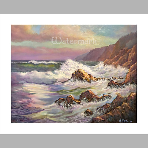 """13.5"""" x 11"""" Printed Copy of Sea Scape Painting by Roger Tofte"""