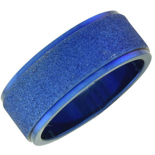 Blue Ring with Sparkling Band, Sized