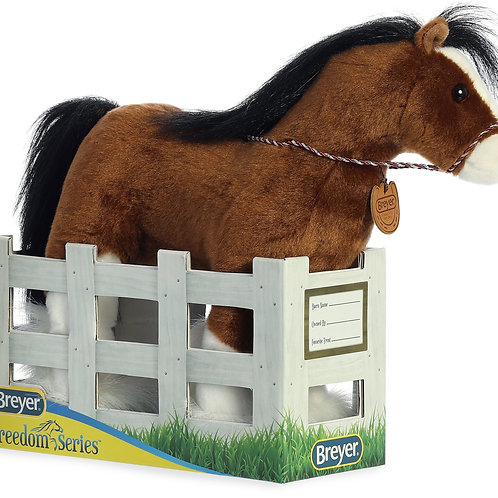 Horse Plush in Stable